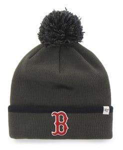 Boston Red Sox 47 Brand Baraka Charcoal Cuff Knit Hat