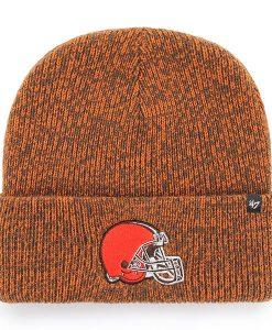 Cleveland Browns 47 Brand Brown Brain Freeze Cuff Knit Hat
