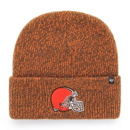Cleveland Browns 47 Brand Brown Brain Freeze Cuff Knit Hat