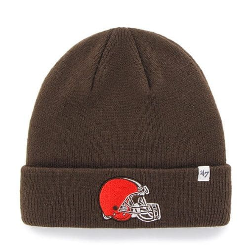 Cleveland Browns YOUTH 47 Brand Brown Raised Cuff Knit Hat