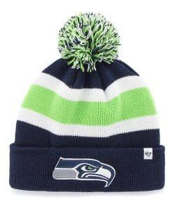 Seattle Seahawks 47 Brand Light Navy Breakaway Cuff Knit Hat