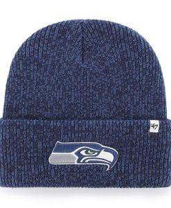 Seattle Seahawks 47 Brand Light Navy Brain Freeze Cuff Knit Hat