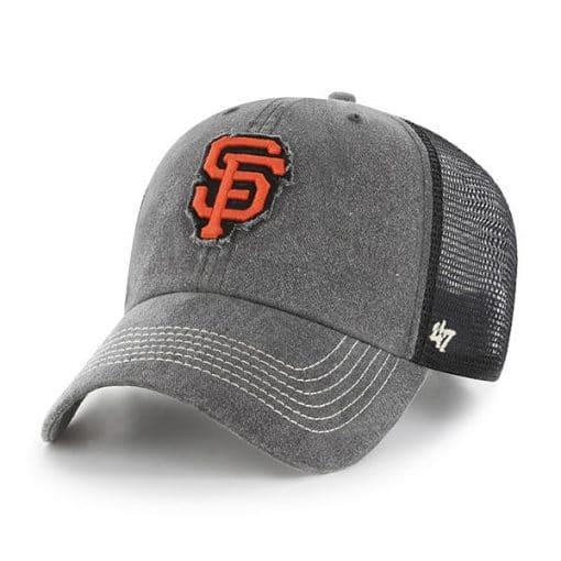 San Francisco Giants 47 Brand Black Burnstead Mesh Adjustable Hat