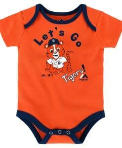 Detroit Tigers Baby Orange Let's Go Onesie Creeper