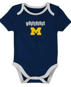 Michigan Wolverines Baby 3 MONTHS Navy Onesie Creeper