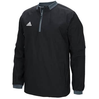 Men's Adidas Black Fielder's Choice 1/4 Zip Long Sleeve Pullover