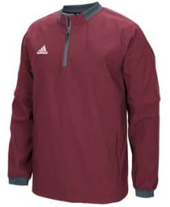 Men's Adidas Burgundy Fielder's Choice 1/4 Zip Long Sleeve Pullover
