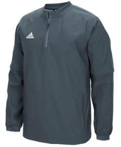 Men's Adidas Gray Fielder's Choice 1/4 Zip Long Sleeve Pullover