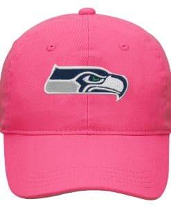 Seattle Seahawks KIDS Girls 7-16 Pink Adjustable Hat