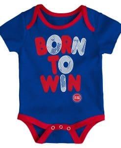 Detroit Pistons Baby Blue Born to Win Onesie Creeper