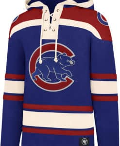 Chicago Cubs Men's 47 Brand Royal Blue Pullover Jersey Hoodie