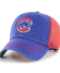 Chicago Cubs 47 Brand Trawler Blue Red Clean Up Adjustable Hat