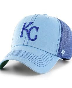 Kansas City Royals 47 Brand Trawler Columbia Blue Clean Up Adjustable Hat