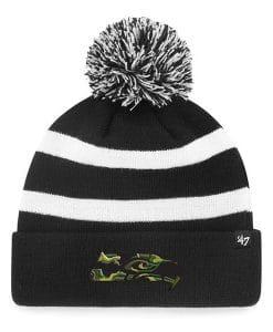 Philadelphia Eagles 47 Brand Black Camfill Breakaway Cuff Knit Hat