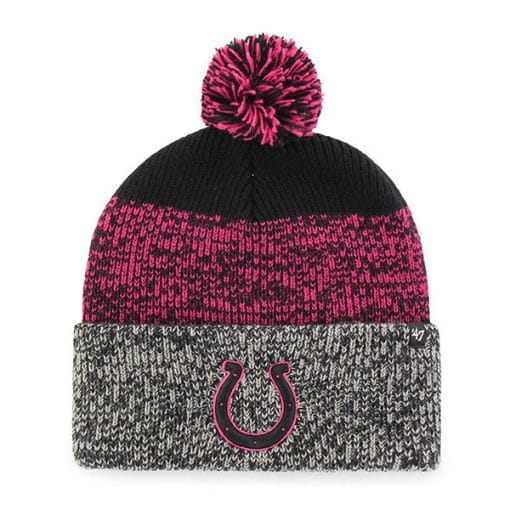Indianapolis Colts Women's 47 Brand Black Static Cuff Knit Hat