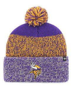 Minnesota Vikings 47 Brand Purple Static Cuff Knit Hat