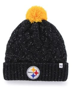 Pittsburgh Steelers INFANT / TODDLER 47 Brand Black Fiona Cuff Knit Hat