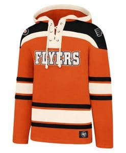 Philadelphia Flyers XXL Men's 47 Brand Orange Pullover Jersey Hoodie
