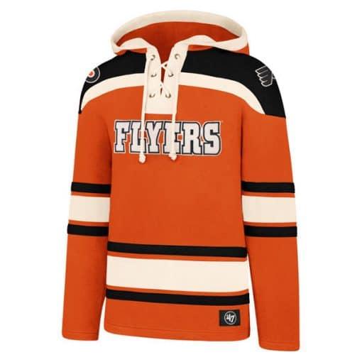 Philadelphia Flyers XXL Men's 47 Brand Orange Pullover Jersey Hoodie