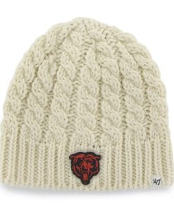 Chicago Bears Women's 47 Brand Natural Newbury Beanie Knit Hat