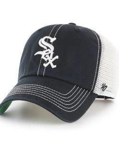 Chicago White Sox 47 Brand Trawler Black White Clean Up Adjustable Hat