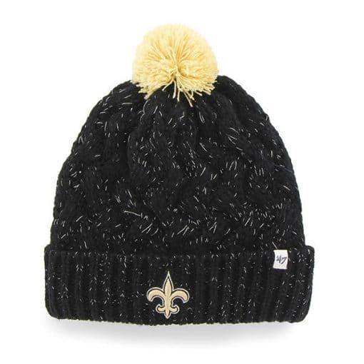New Orleans Saints INFANT / TODDLER 47 Brand Black Fiona Cuff Knit Hat