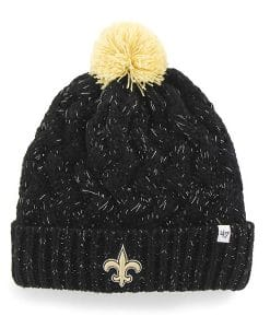 New Orleans Saints Women's 47 Brand Black Fiona Cuff Knit Hat