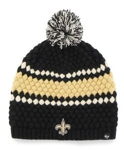 New Orleans Saints Women's 47 Brand Black Leslie Beanie Knit Hat