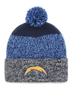 Los Angeles Chargers 47 Brand Light Navy Static Cuff Knit Hat