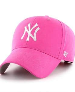 New York Yankees INFANT 47 Brand Bright Pink Girls Stretch Fit Hat