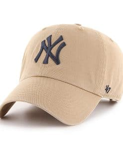 New York Yankees 47 Brand Khaki Clean Up Adjustable Hat