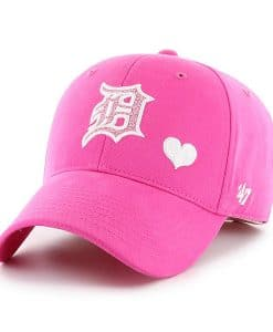 Detroit Tigers 47 Brand Bright Pink Girls YOUTH Adjustable Hat