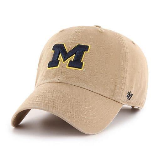 Michigan Wolverines 47 Brand Khaki Clean Up Adjustable Hat