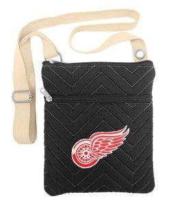 Detroit Red Wings Gray Chevron Stitch Cross Body Bag