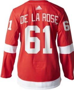 Jacob De La Rose Detroit Red Wings Men's Adidas AUTHENTIC Home Jersey