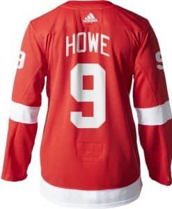 Gordie Howe Detroit Red Wings Men's Adidas AUTHENTIC Home Jersey