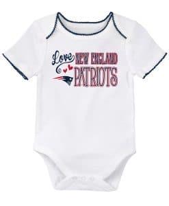 New England Patriots Love White Onesie Creeper