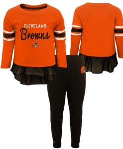 Cleveland Browns Baby Girls Pants & Top 2 Piece Set