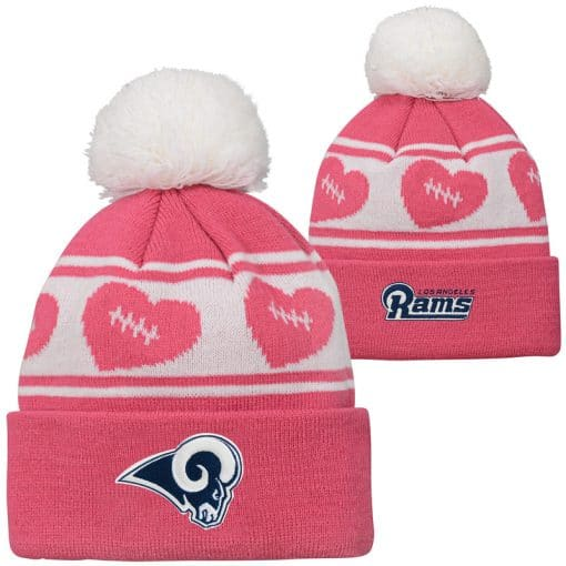 Los Angeles Rams TODDLER Baby Pink Cuff Knit Hat