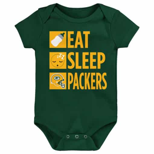 Green Bay Packers Baby Green Onesie Creeper