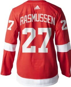 Rasmussen Detroit Red Wings Men's Adidas AUTHENTIC Home Jersey