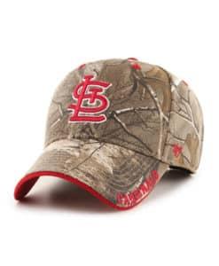 St. Louis Cardinals 47 Brand Realtree Camo Frost MVP Adjustable Hat