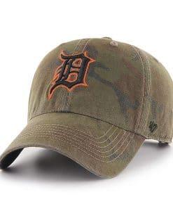 Detroit Tigers 47 Brand Sandalwood Camo Clean Up Adjustable Hat