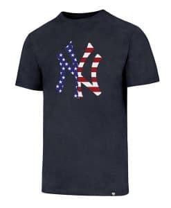 New York Yankees Men's 47 Brand Red White & Blue Club T-Shirt Tee