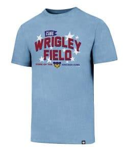 Chicago Cubs Men's 47 Brand Wrigley Field Carolina Blue T-Shirt Tee