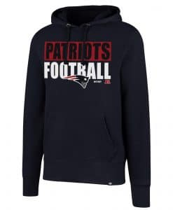 New England Patriots Men's 47 Brand Headline Fall Navy Hoodie