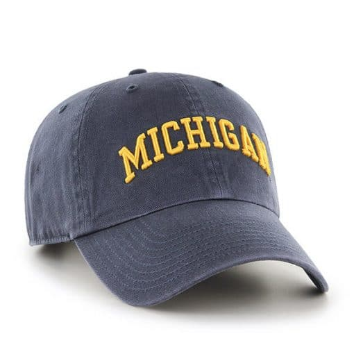 Michigan Wolverines 47 Brand Vintage Navy Script Clean Up Adjustable Hat