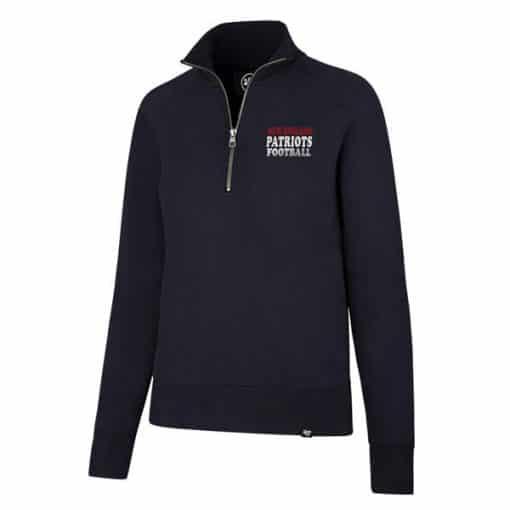 New England Patriots Women's 47 Brand Navy 1/4 Zip Pullover