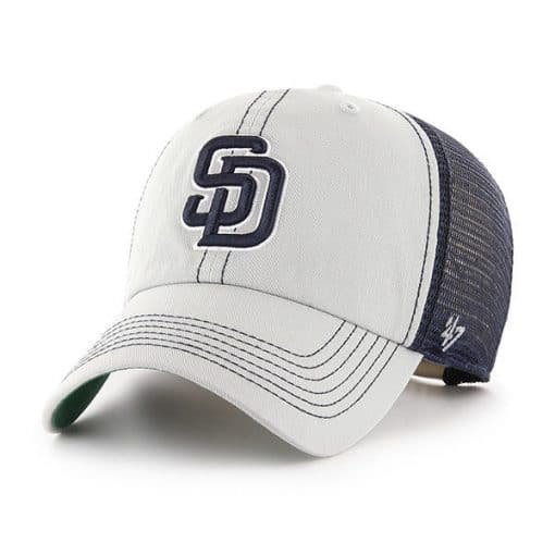 San Diego Padres 47 Brand Gray Trawler Clean Up Adjustable Hat