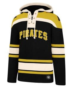 Pittsburgh Pirates Men's 47 Brand Black Pullover Jersey Hoodie